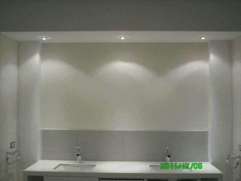 Banyo içi Lavabo Dolap Dekorasyon ve Aydınlatma
