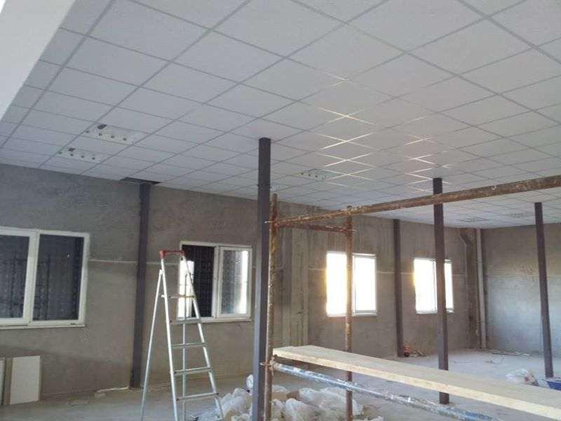 Fabrika içi Asma Tavan ve Elektrik Tesisatı